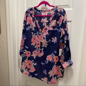 *BNWT Old Navy Floral Tunic